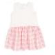 Pink Plaid Mixed Media Combo Dress