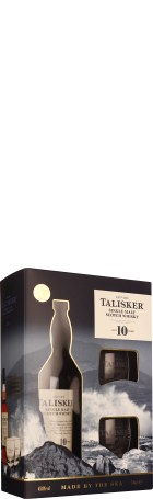 Talisker 10 years Single Malt Giftset 70cl