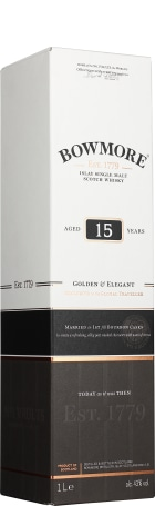 Bowmore 15 years Single Malt Golden & Elegant 1ltr