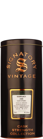 Signatory Mortlach 9 years 2008 Cask Strength 70cl