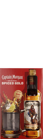 Captain Morgan Spiced Gold Giftset 70cl