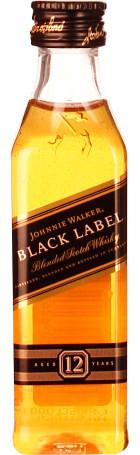 Johnnie Walker Black Label miniaturen 12x5cl