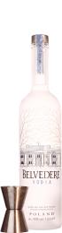 Belvedere Vodka met jigger 1ltr