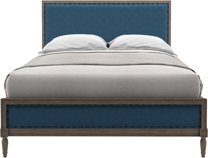 Ann queen size bed frame atlantic blue 1
