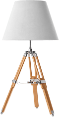 Tarus tripod table lamp white