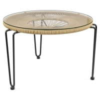 Muro Glass Top Outdoor Coffee Table