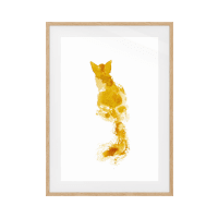 The Golden Cat Print