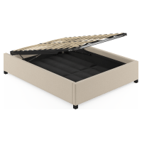 Double Size Upholstered Gas Lift Bed Frame Base