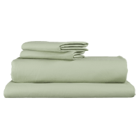 Pima Cotton Green Lily Standard Sheet Set