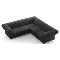 Camden Chesterfield L-Shaped Sectional Corner Sofa