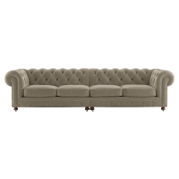 Notting Hill Velvet Chesterfield 4.5 Seater Sectional Sofa