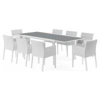 Waikiki - Malibu Extendable 8 Seater Outdoor Dining Set