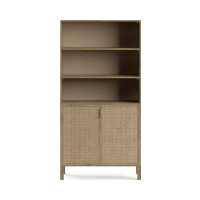 Caledonia Rattan Bookcase with Storage