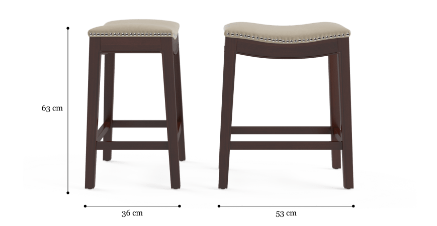 Hocker Set Of 2 Bar Stools Low