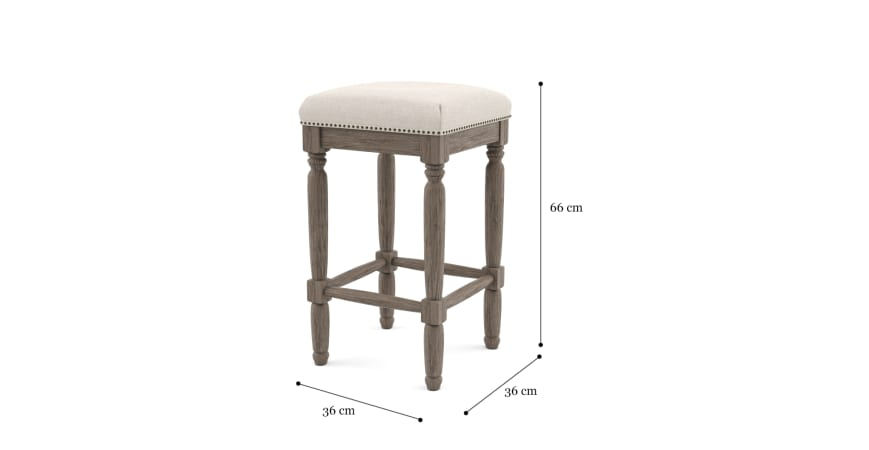 Clovis Set of 2 Bar Stools Low
