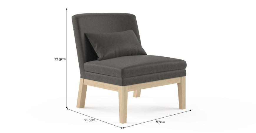 Alicia Leather Accent Chair
