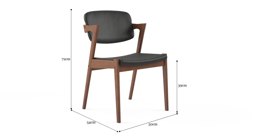 Ingrid 2x Modern Danish Dining Chair