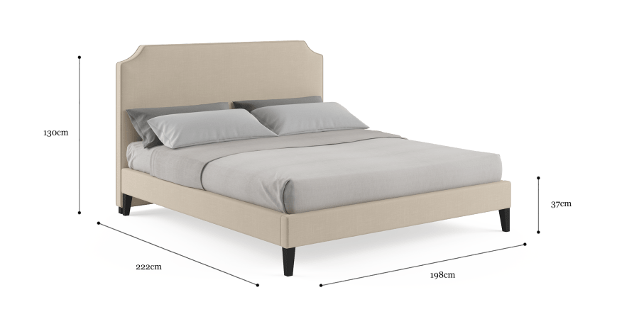 Natalie King Slim Bed Frame