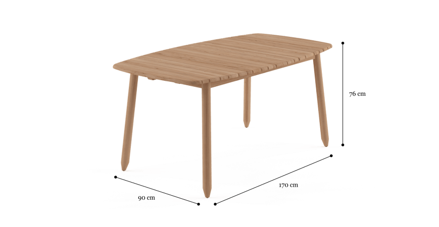 Rhodes Small Outdoor Dining Table