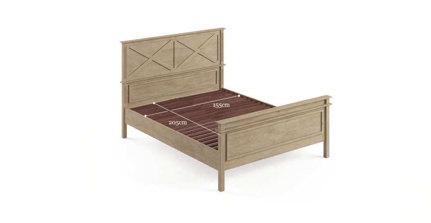 Sorrento Queen Wooden Bed Frame