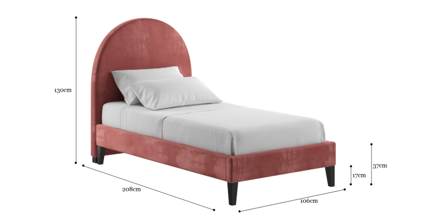 Arch Single Slim Bed Frame
