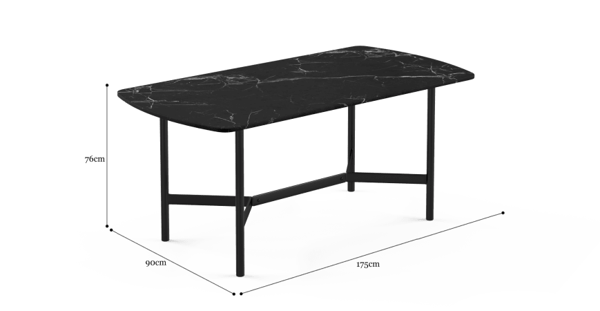 Memphis Marble Dining Table 175cm