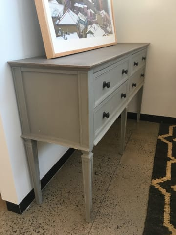 Enzo console table distressed grey 02
