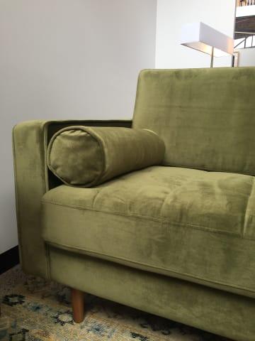 Frank 2 seater sofa olive green 03