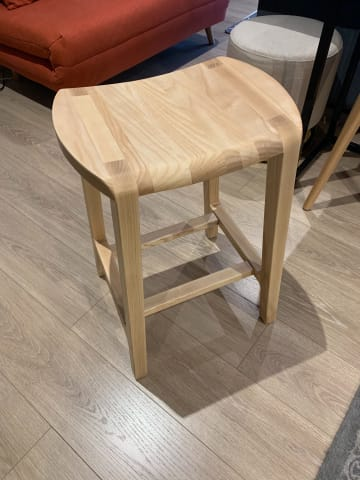 Milly bar stool low natural ash 02