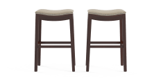 Hocker Set of 2 High Bar Stools