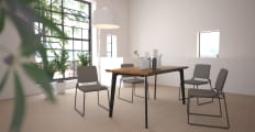 Bell Dining Table and Glasser Chair Set of 4