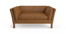 Miles Leather 2 Seater Sofa