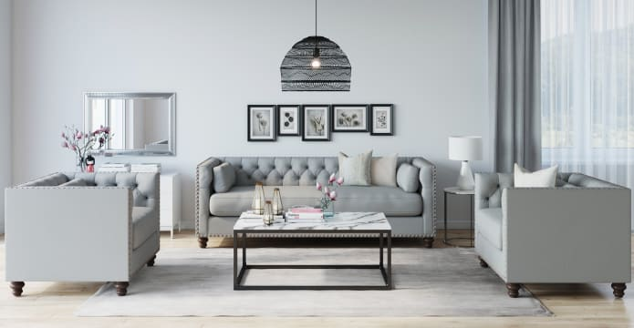 Madeline Chesterfield 3 Seater Sofa