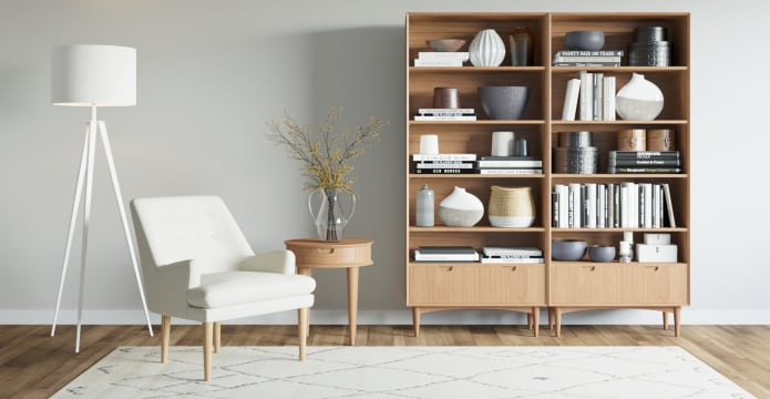Mia Wide Bookcase