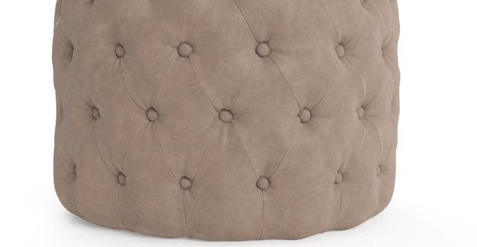 Marken Small Leather Ottoman