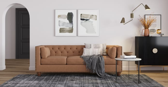 Florence Leather 3 Seater Sofa