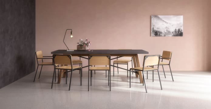 Dining Set Dover Table 6x Grammar 2x Carver Chairs