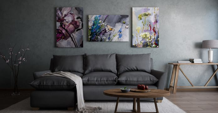 The Dark Garden Triptych Set of 3