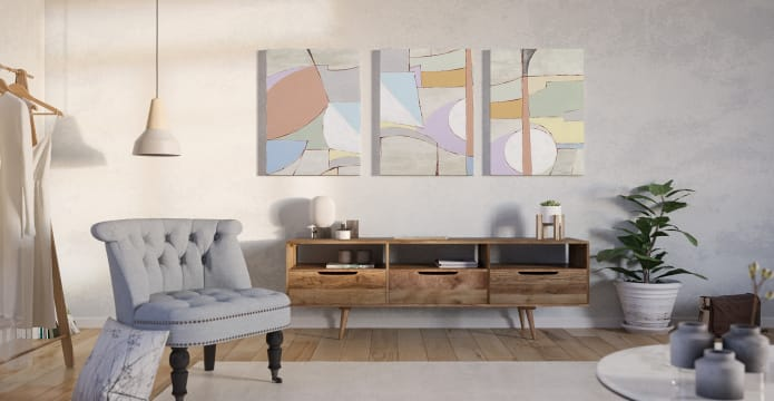 The Sorbet Triptych Set of 3