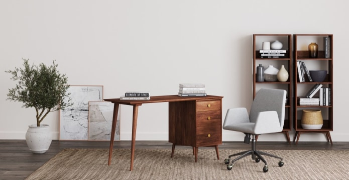 Frank Large Study Desk with Drawers