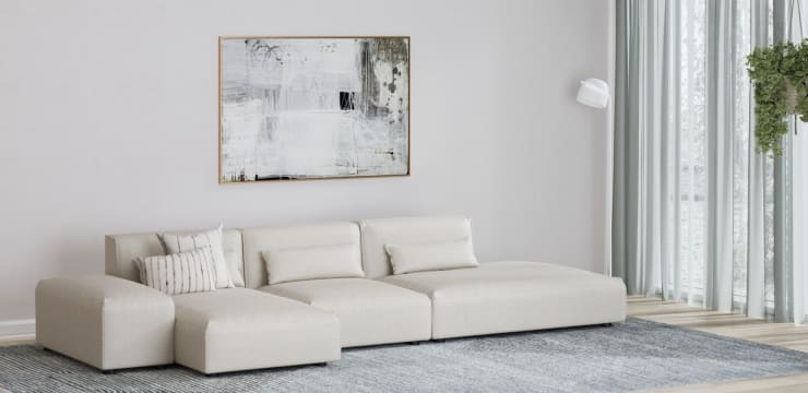 Drake 4 Seater Modular Sofa with Chaise and Ottoman