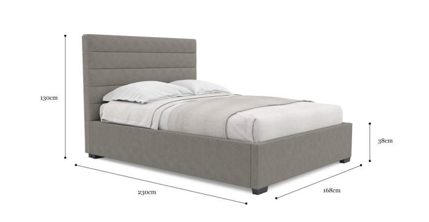 Eleanor Gas Lift Queen Size Bed Frame