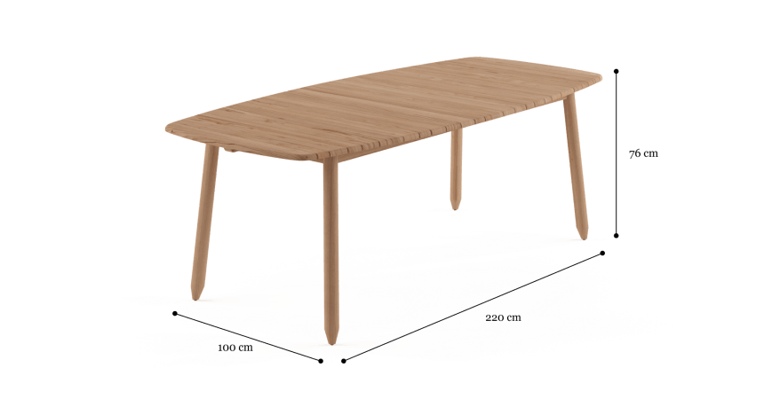 Rhodes Large Outdoor Dining Table