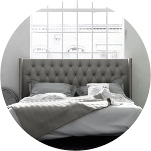 King size bed frame and bed base