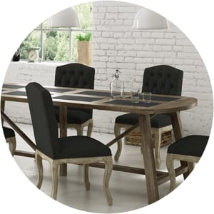 French provincial dining table and chairs