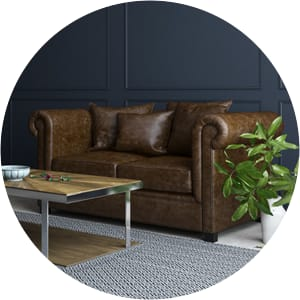 Jamie 2 seater sofa brown