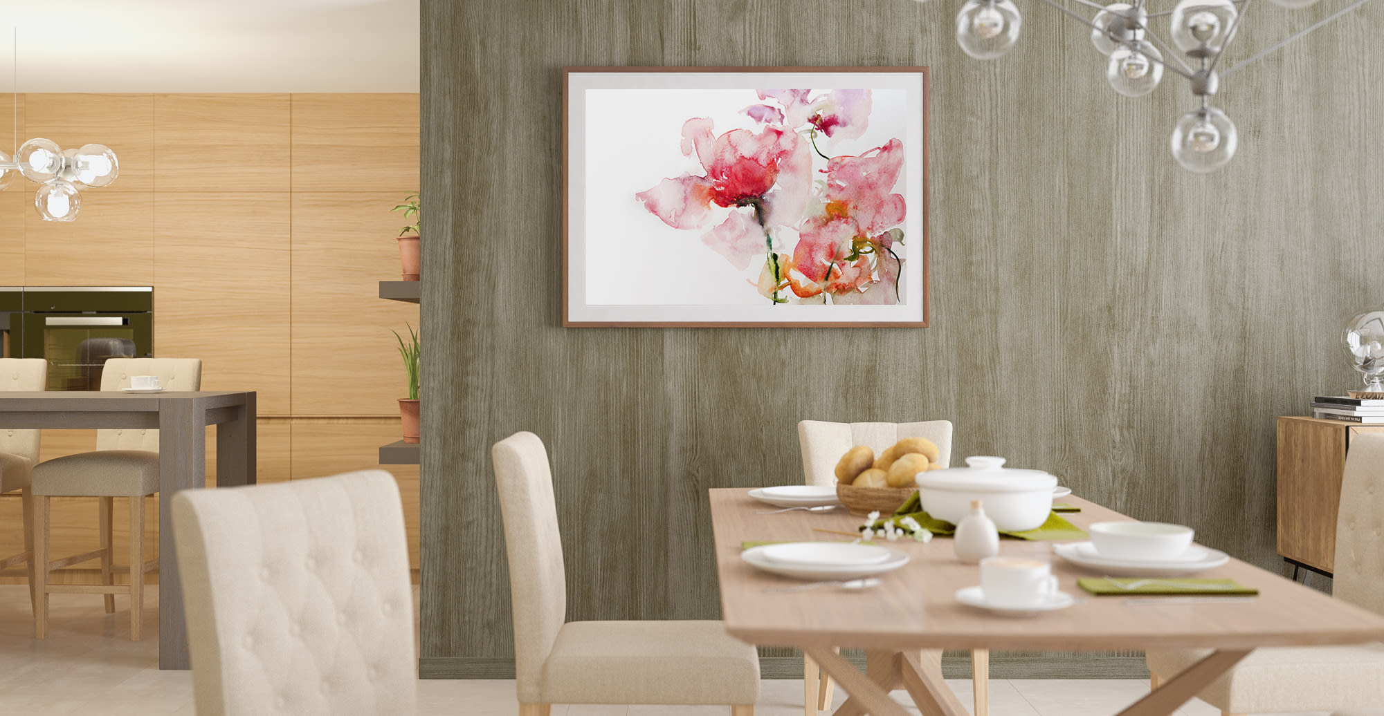 The Bud Wall Art Print in Contemporary style Dining Room