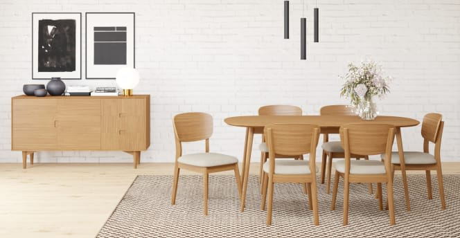 Dining Set Mia Extendable Dining Table