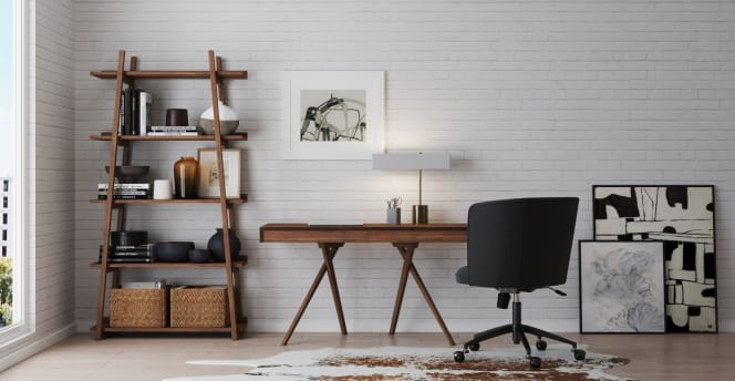 Lewes Desk Makes for the Perfect Working from Home station - Home Office