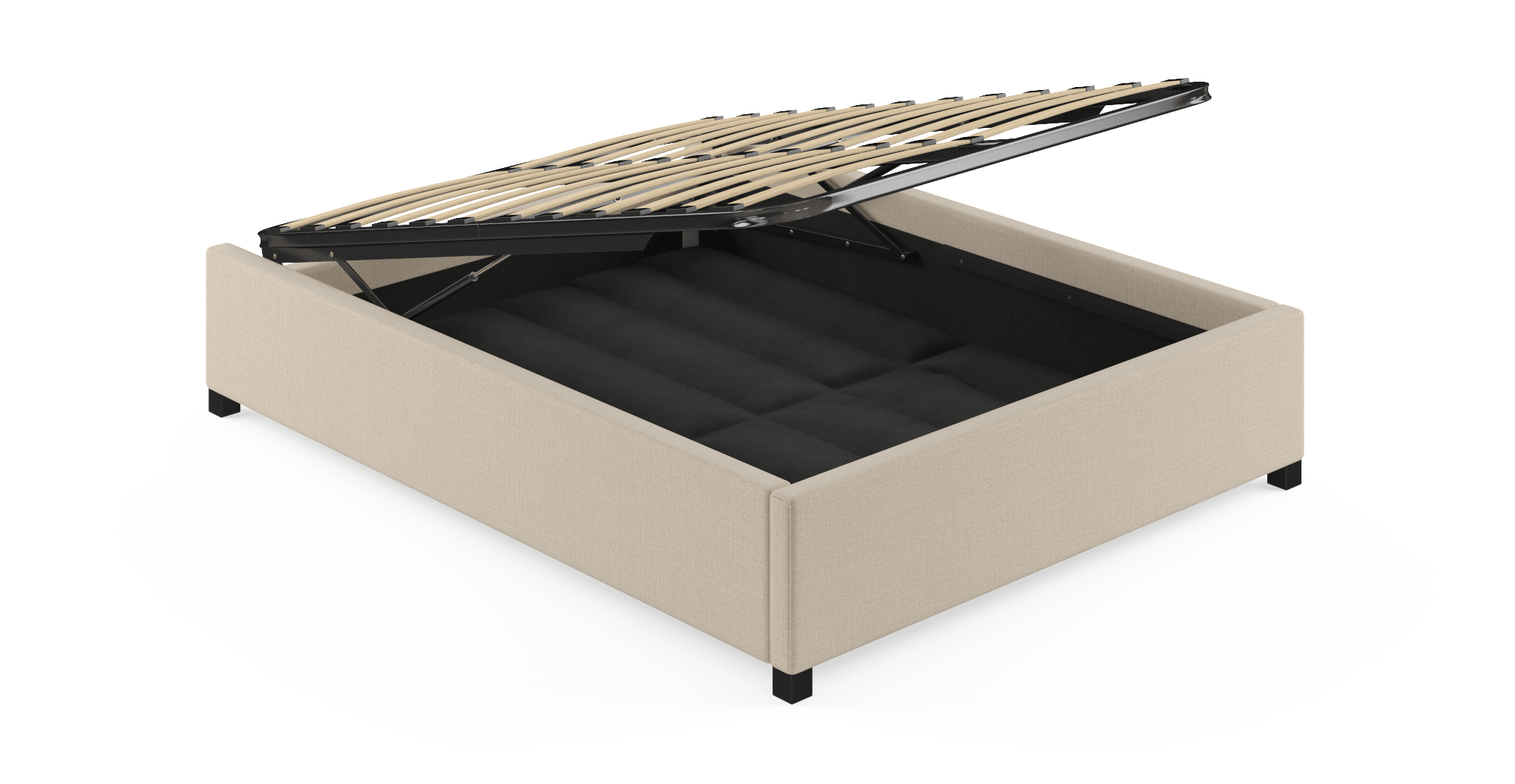 Buy Double Size Upholstered Gas Lift Bed Frame Base | BROSA